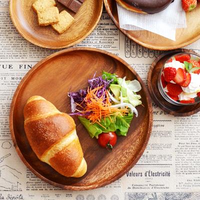 カフェ風 木製 ウッド 食器 コーディネート アカシア