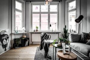 【海外インテリア86選】床が明るい色のフローリングを使用した部屋のおしゃれなインテリア実例集
