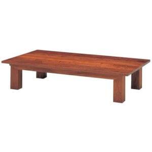 座卓とは、床に座って食事や団らんをする際に使うテーブルのことです。座卓は、天板に脚をつけて固定しています。床の上に座って使用するため、脚が短く、床から天板までの高さは30~40センチのものが一般的です。天板は、長方形、正方形、円形など様々な形があります。