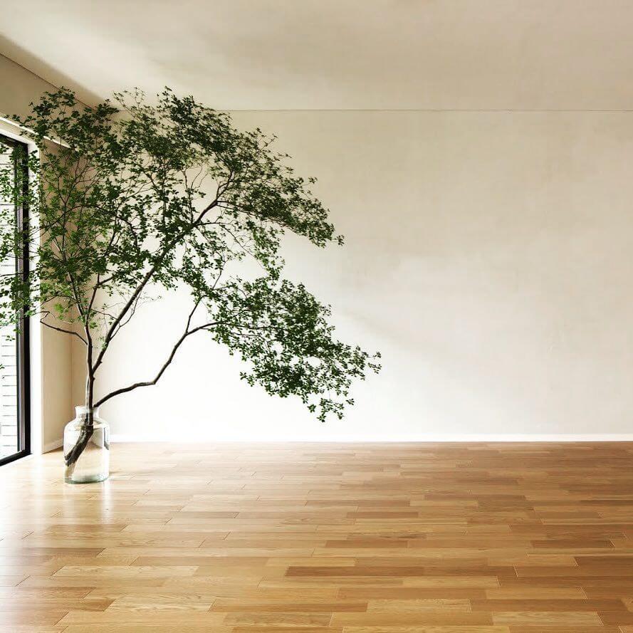 アクセントウォールには一般的には壁紙を使う場合が多いですが自然素材のシリカライムは革命を起こします。