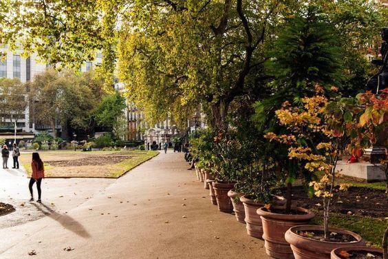 緑豊かな公園があり大都会であることを忘れさせてくれます。