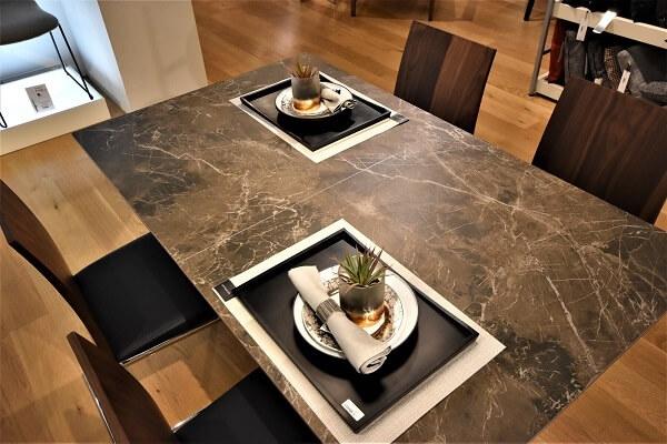 リシェルSI セラミック ダイニングテーブル ブラック