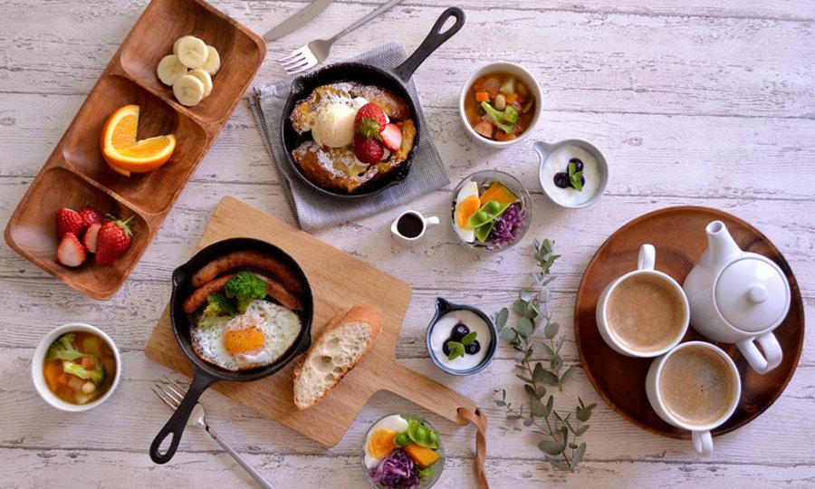 カフェ風 木製 ウッド 食器 コーディネート