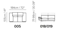 2人掛けsongdreamおすすめレザーソファ背もたれリクライニング機能付きで高い・低い両方調節できる
