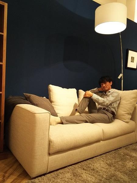 モダンインテリア songdreamの新型ソファ ALTOアルト 寝た場合の画像