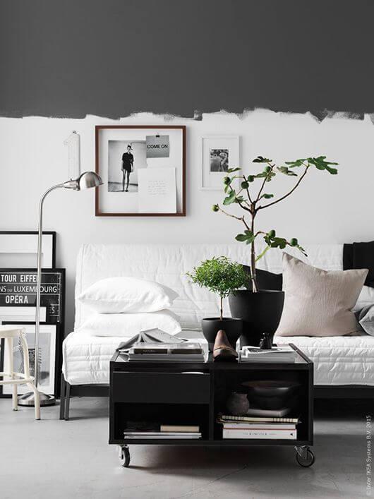 観葉植物のおしゃれな飾り方実例集 モノトーンモダン