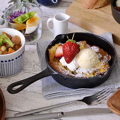 カフェ風 木製 ウッド 食器 コーディネート  スキレット