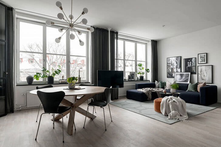 観賞植物のおしゃれな飾り方実例集出窓のスペースも植物でモダンでシンプルな空間に+を