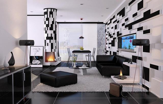 リビングルームにどのように深みを加えていますか?なぜ3-Dの壁紙を追加しないでください?空間を生き生きとさせ、雄大なアクセントの壁を作ります!