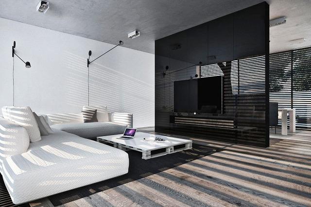 パレット家具で間違って行くことはできません。それはシンプルで機能的で、とてもスタイリッシュです。洗練された照明器具と組み合わせると、部屋には微妙な産業的な流れがあり、部屋に深みを与えます。