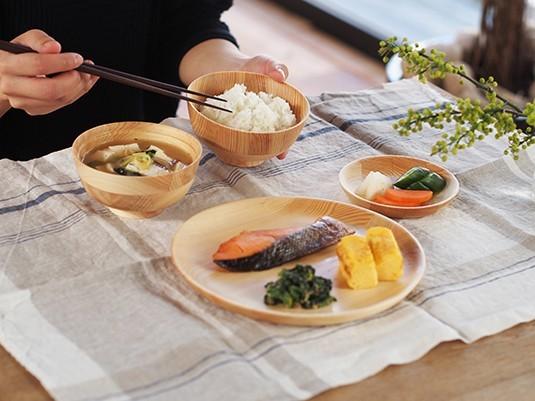 カフェ風 木製 ウッド 食器 コーディネート ひのき