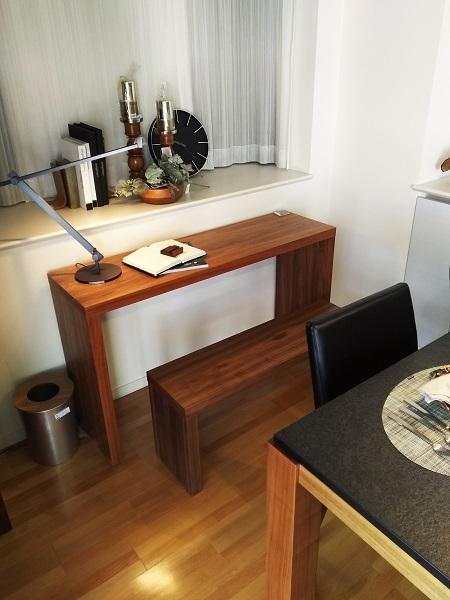 モダンインテリア・家具 songdreamの提案するWalnutのシンプルなデザインのダイニング用ベンチとコンソール