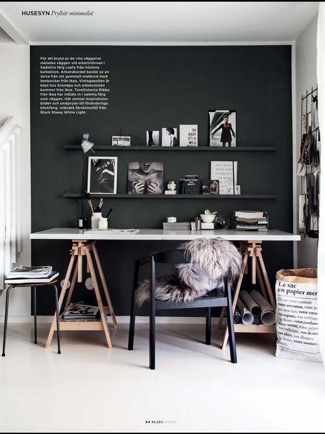 壁面の色をダーク系にするとモダンインテリア向きのしまった空間になります。