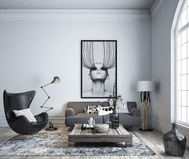 あなたがこのリビングルームを見たとき、何が気になりますか?芸術的?現代?どうですか?お部屋は現代的な雰囲気を醸し出しており、現代的な住宅所有者のための完璧な家です。
