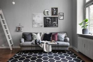 【海外インテリア42選】床がウォールナット色(中間色)のフローリングの部屋のおしゃれなインテリア実例集