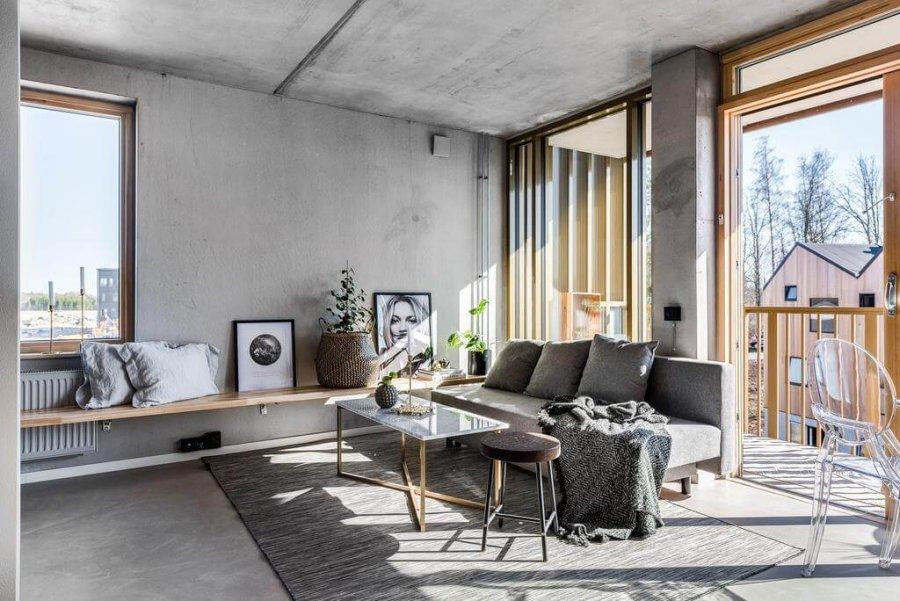 【海外インテリア39選】床の色がグレーのフローリングを使用した部屋のおしゃれなインテリア実例集