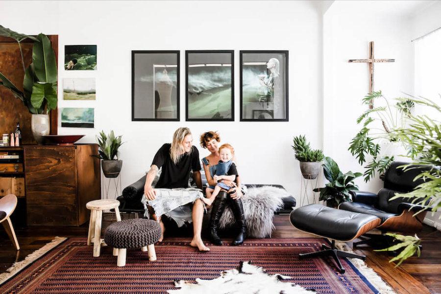 オーストラリアのルミエール家の晴れやかな家の中