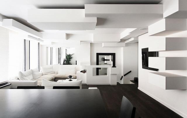 私たちの最後のリビングルームは3次元の驚異です。あなたのリビングルームを3次元アクセントの壁/天井を持つよりダイナミックにするには、より良い方法はありますか?空間は洗練されており、絶対に元気で、ユニークな建築は息を呑むほど素晴らしいものです。